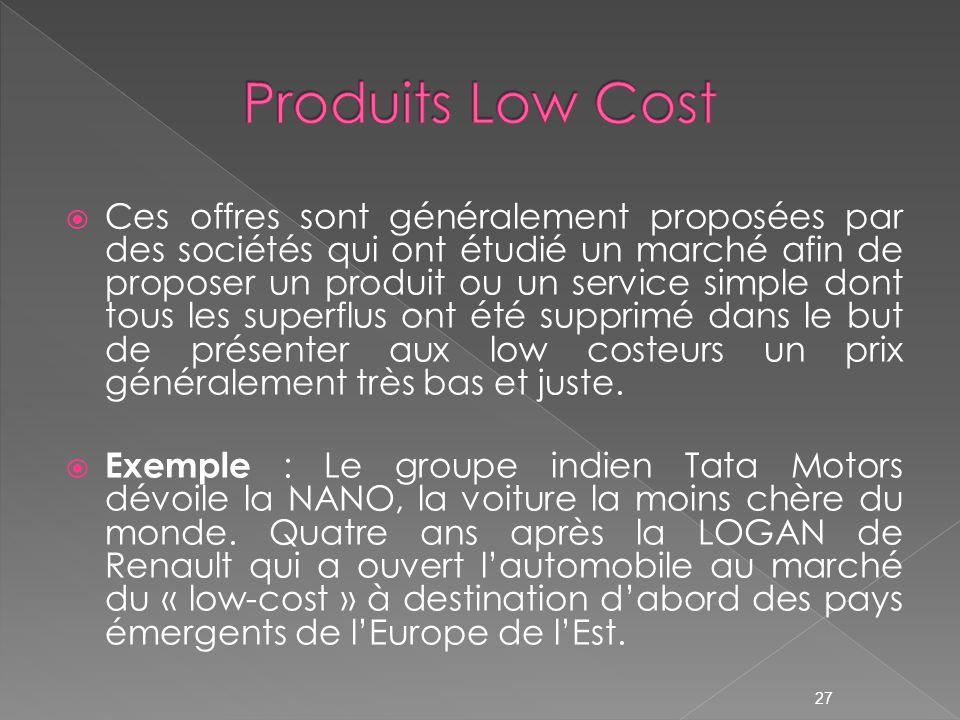 Produits Low Cost