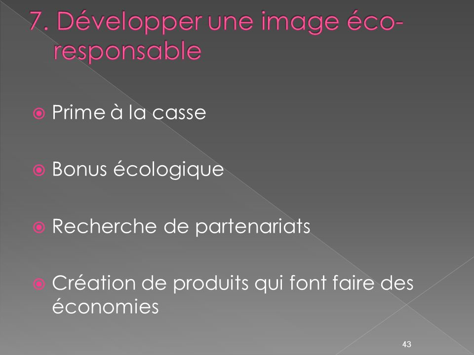 7. Développer une image éco-responsable