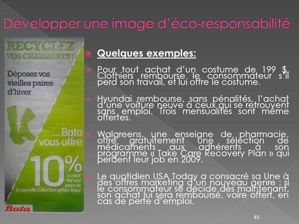 Développer une image d'éco-responsabilité