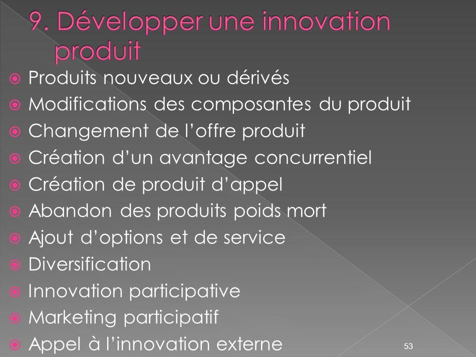 9. Développer une innovation produit