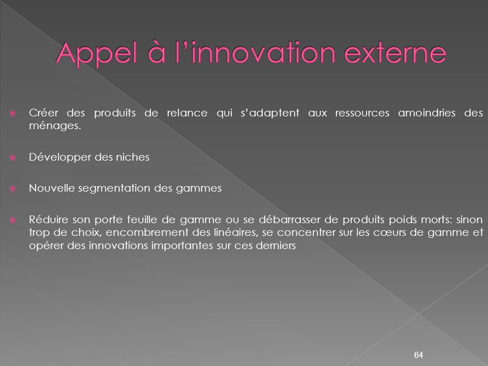 Appel à l'innovation externe
