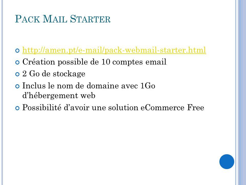 Pack Mail Starter http://amen.pt/e-mail/pack-webmail-starter.html