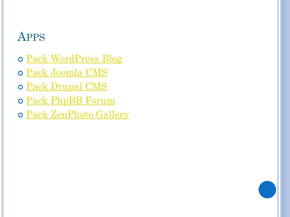 Apps Pack WordPress Blog Pack Joomla CMS Pack Drupal CMS