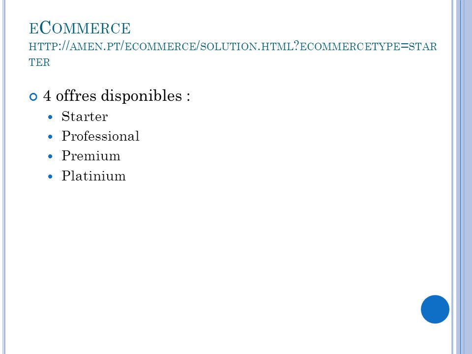 eCommerce http://amen.pt/ecommerce/solution.html ecommercetype=starter