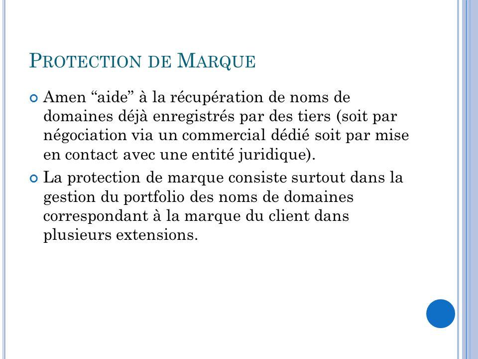 Protection de Marque