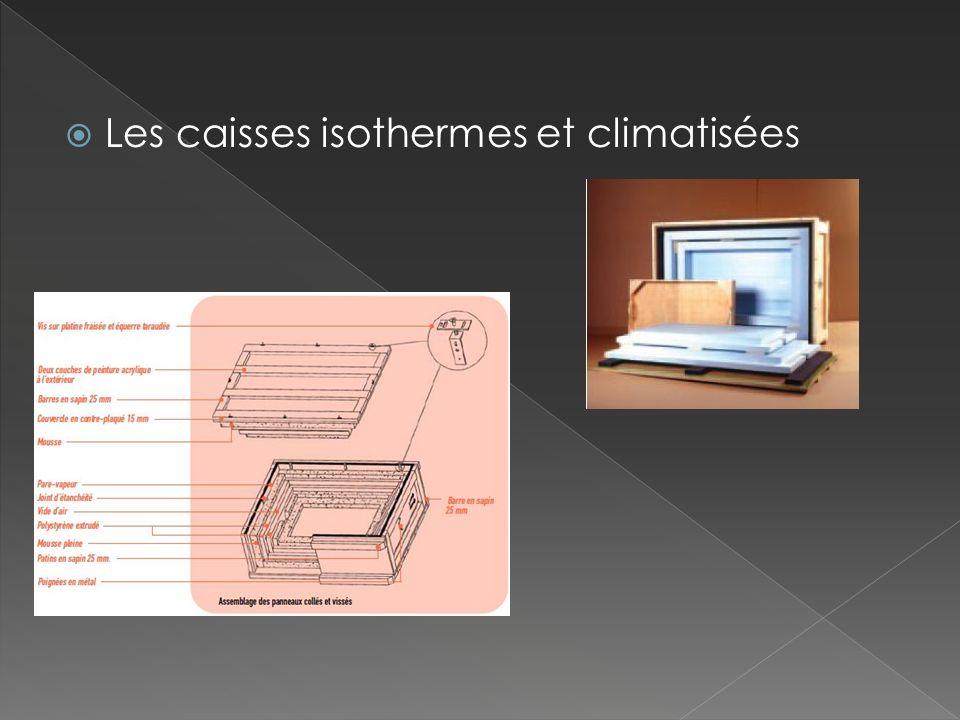 Les caisses isothermes et climatisées