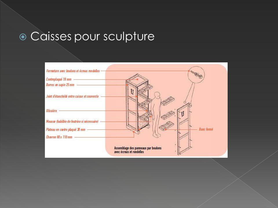 Caisses pour sculpture