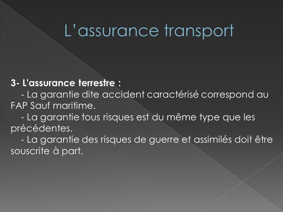 L'assurance transport