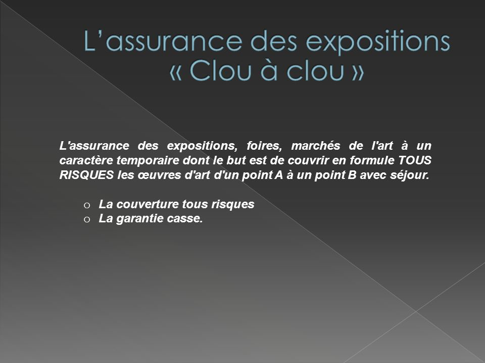 L'assurance des expositions