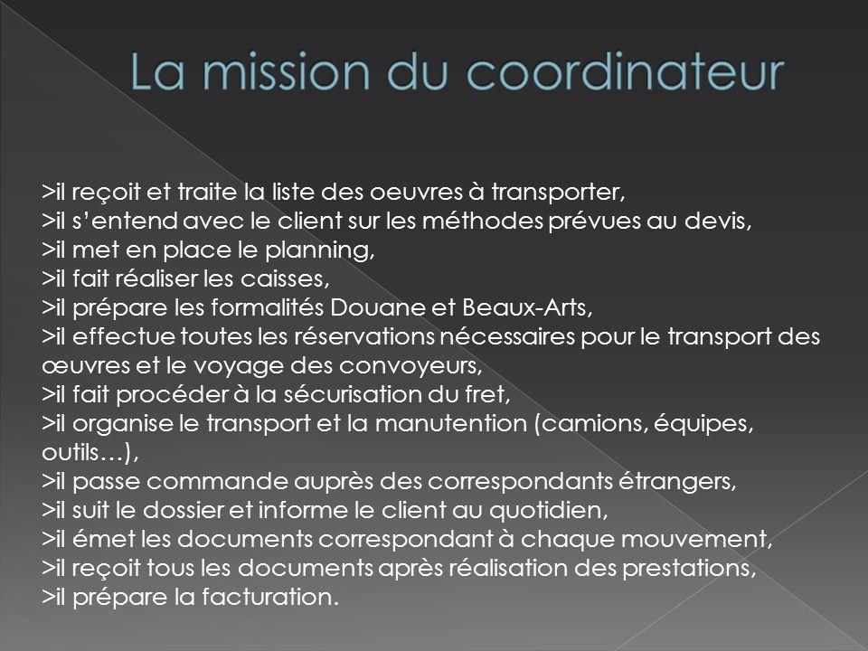 La mission du coordinateur