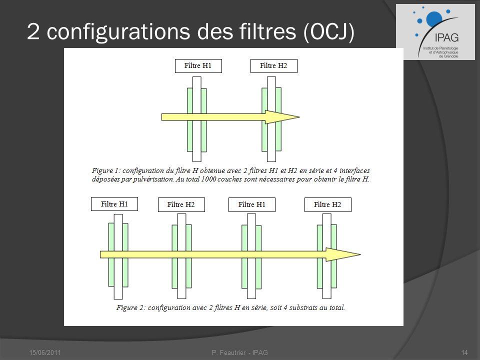 2 configurations des filtres (OCJ)