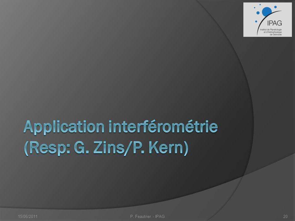 Application interférométrie (Resp: G. Zins/P. Kern)