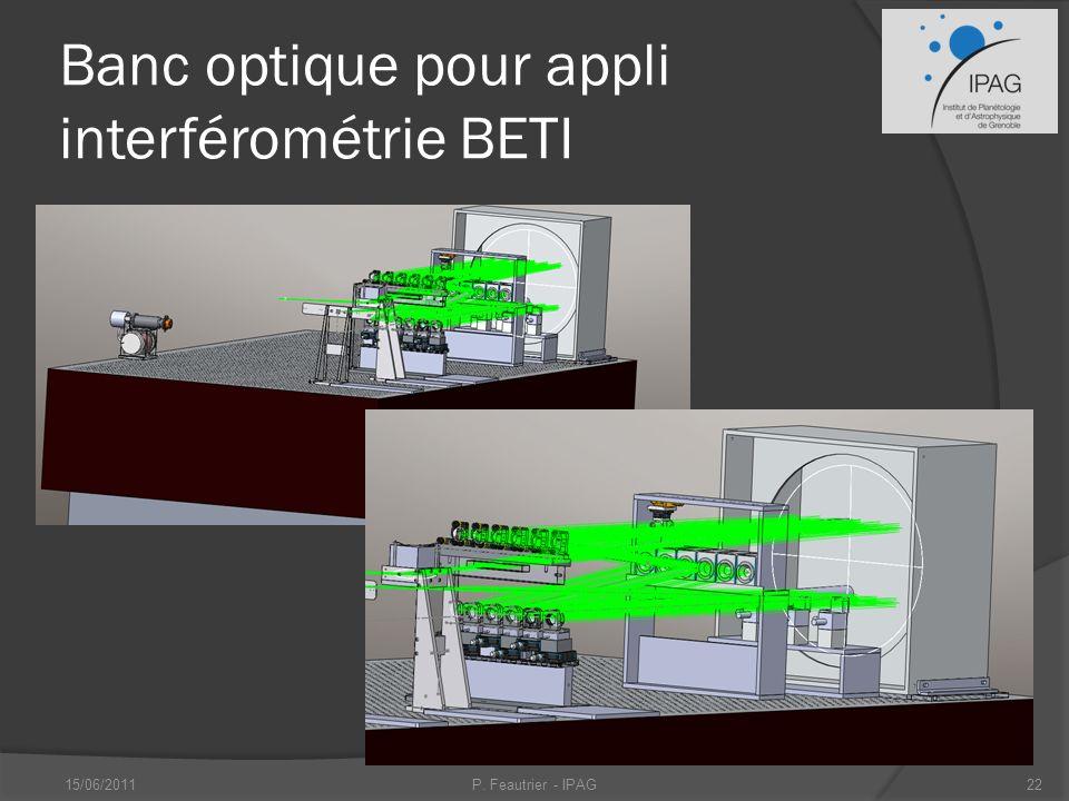 Banc optique pour appli interférométrie BETI