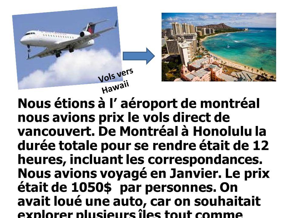 Vols vers Hawaii