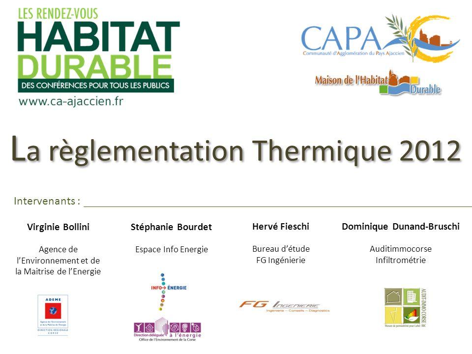 La règlementation Thermique 2012