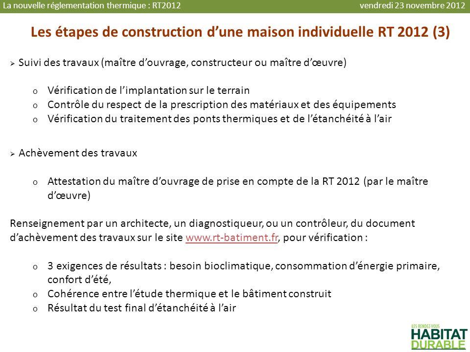 Les étapes de construction d'une maison individuelle RT 2012 (3)
