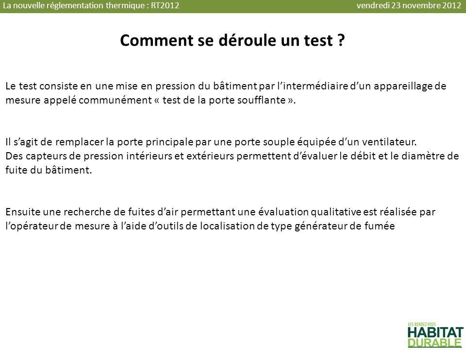 Comment se déroule un test