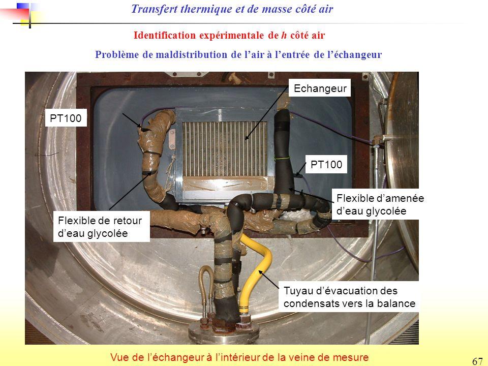 Transfert thermique et de masse côté air