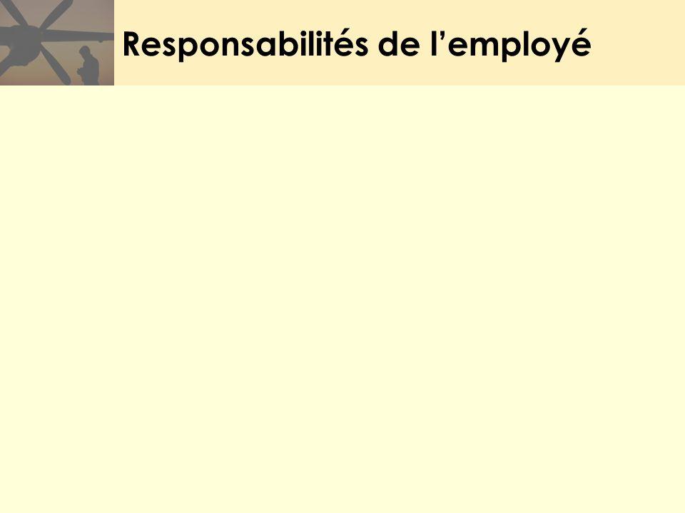 Responsabilités de l'employé