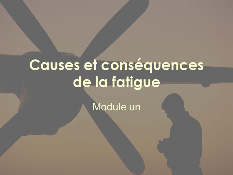 Causes et conséquences de la fatigue
