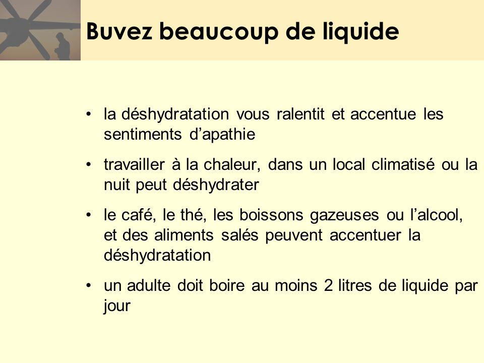 Buvez beaucoup de liquide