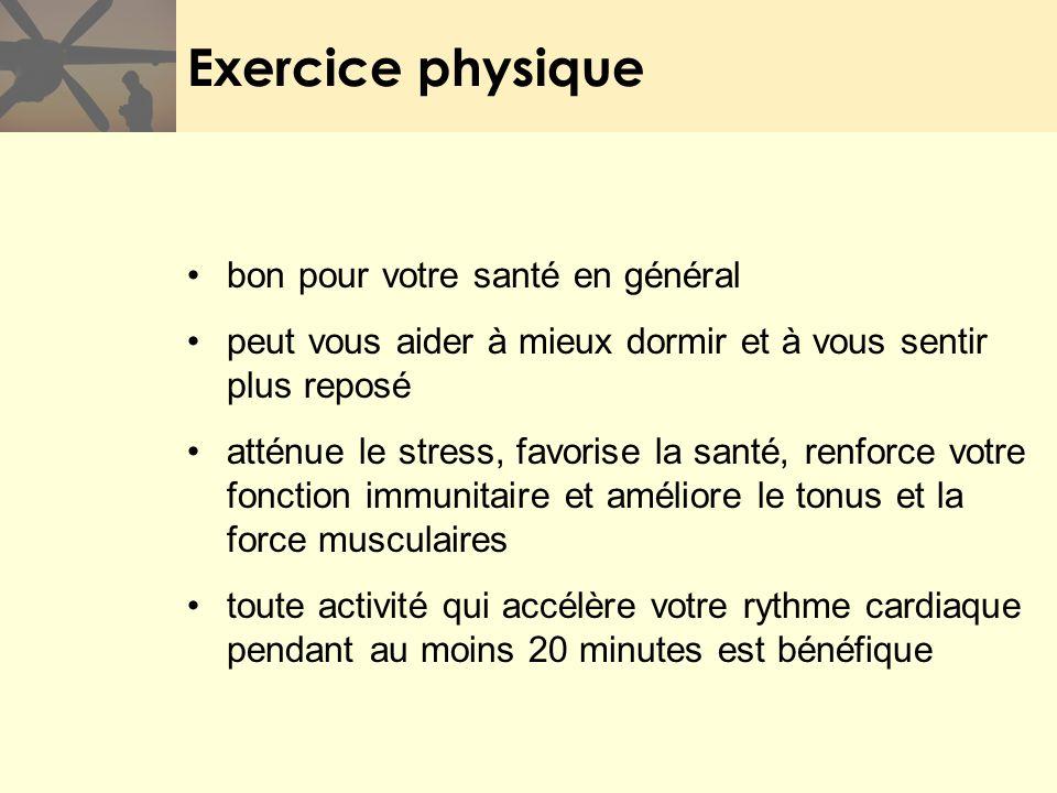 Exercice physique bon pour votre santé en général