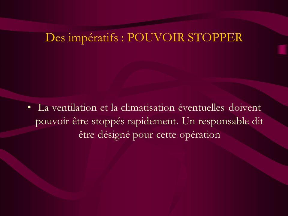 Des impératifs : POUVOIR STOPPER