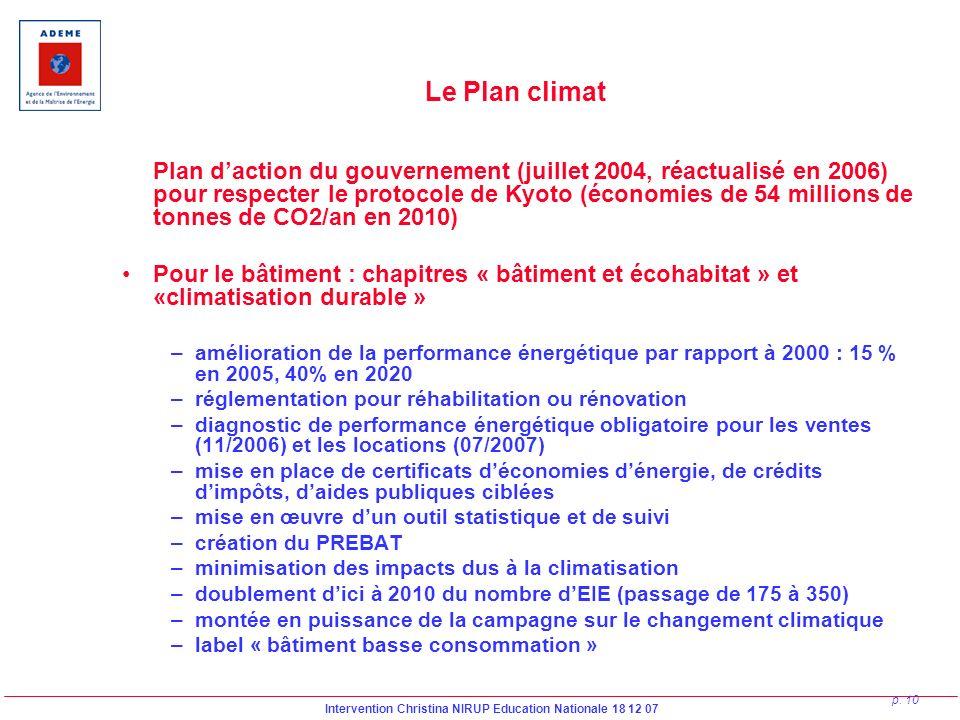 Le Plan climat