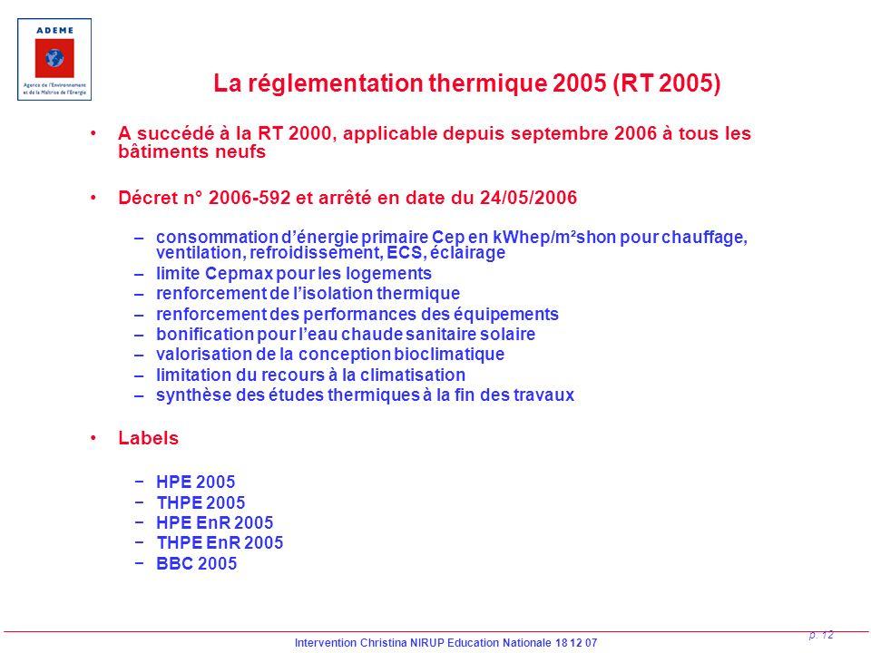 La réglementation thermique 2005 (RT 2005)