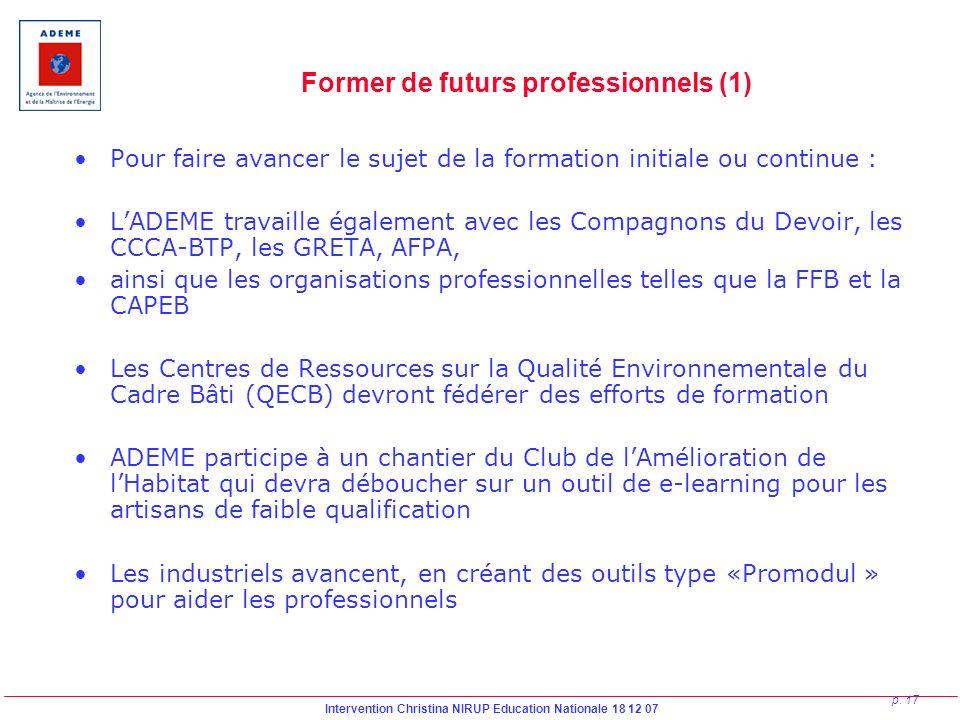 Former de futurs professionnels (1)
