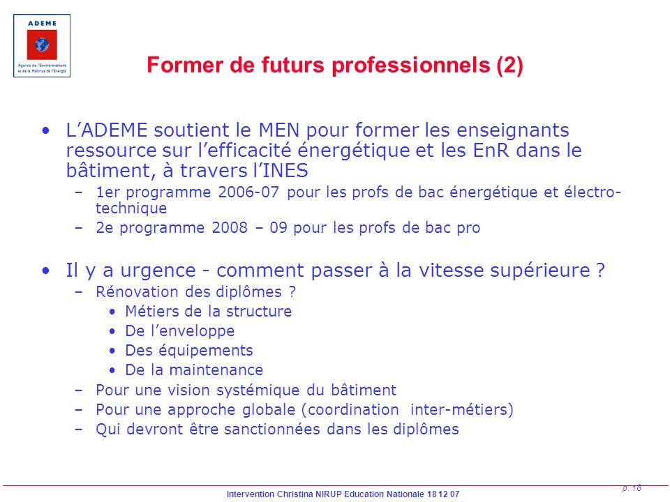 Former de futurs professionnels (2)