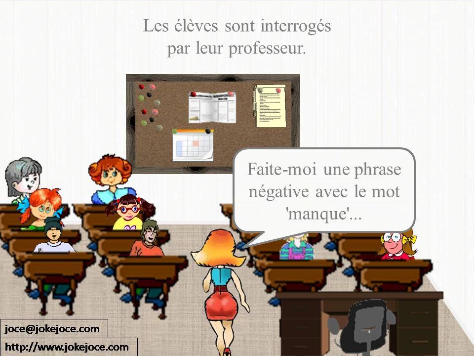 Les élèves sont interrogés par leur professeur.