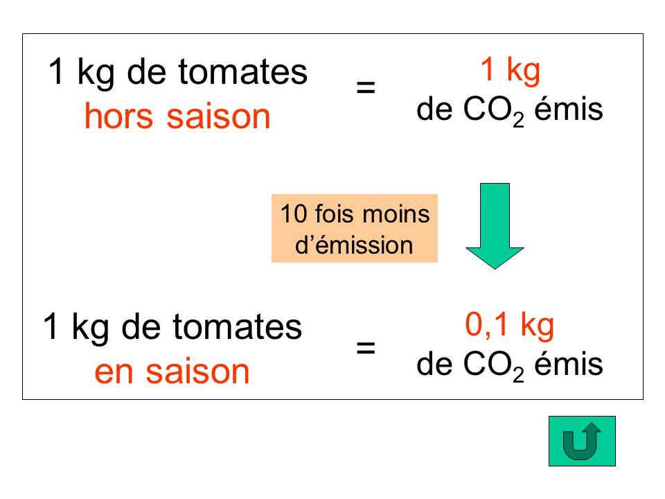 1 kg de tomates hors saison