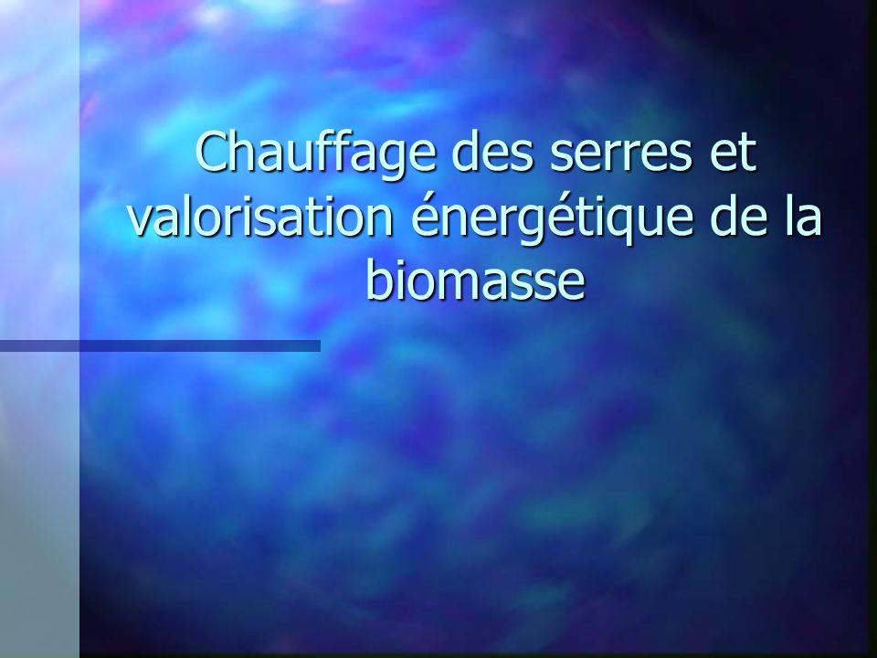 Chauffage des serres et valorisation énergétique de la biomasse