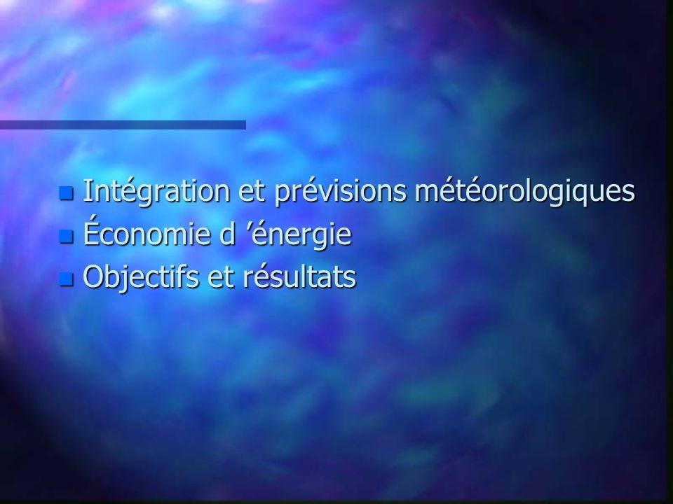 Intégration et prévisions météorologiques