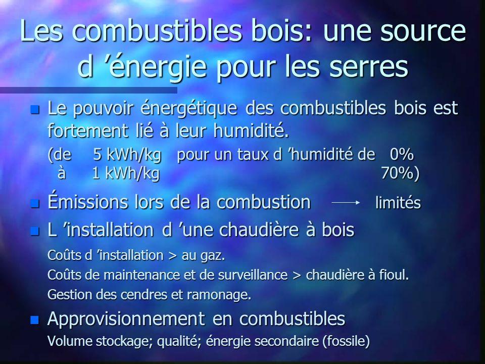 Les combustibles bois: une source d 'énergie pour les serres