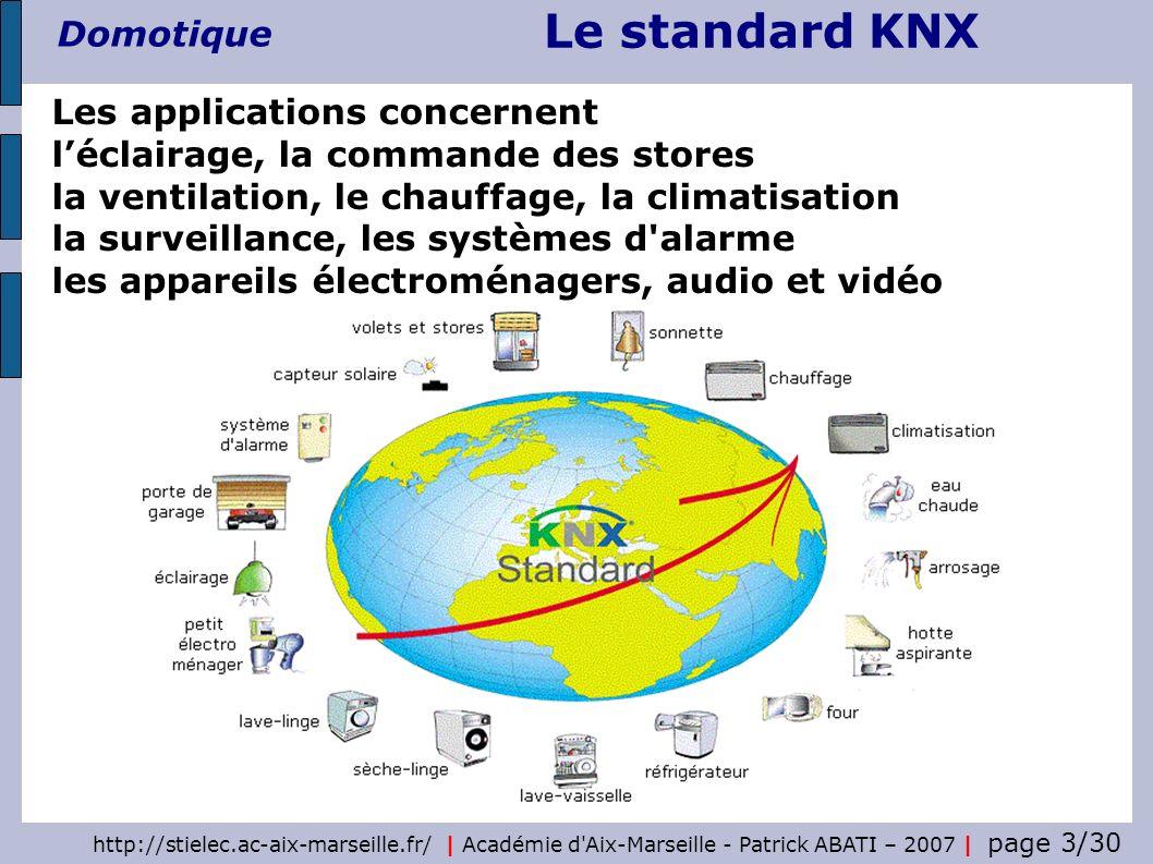 Les applications concernent l'éclairage, la commande des stores la ventilation, le chauffage, la climatisation la surveillance, les systèmes d alarme les appareils électroménagers, audio et vidéo