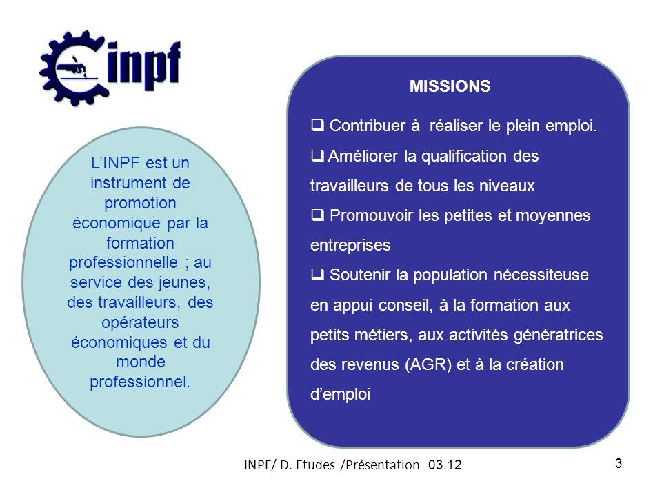 INPF/ D. Etudes /Présentation 03.12