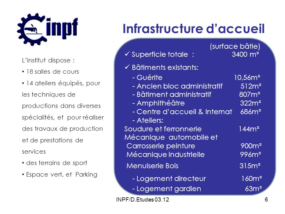 Infrastructure d'accueil