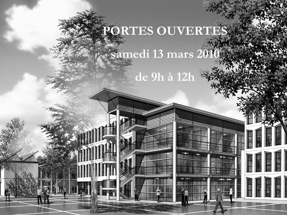 PORTES OUVERTES samedi 13 mars 2010 de 9h à 12h