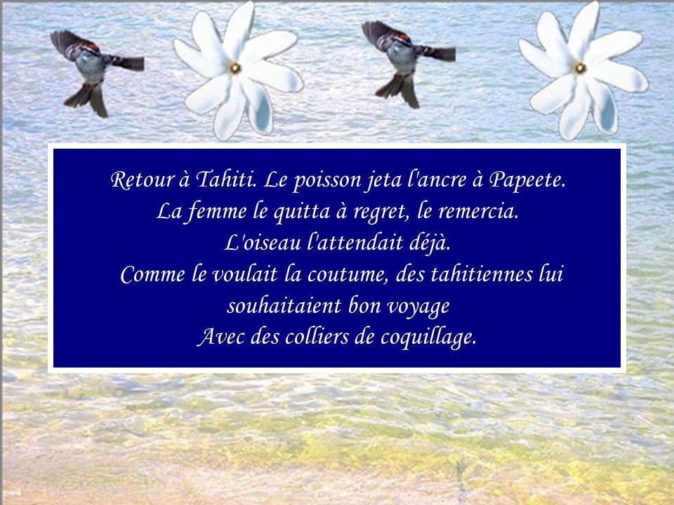 Retour à Tahiti. Le poisson jeta l ancre à Papeete
