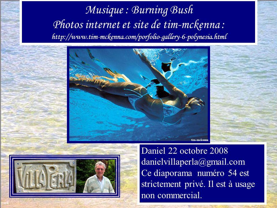 Musique : Burning Bush Photos internet et site de tim-mckenna : http://www.tim-mckenna.com/porfolio-gallery-6-polynesia.html