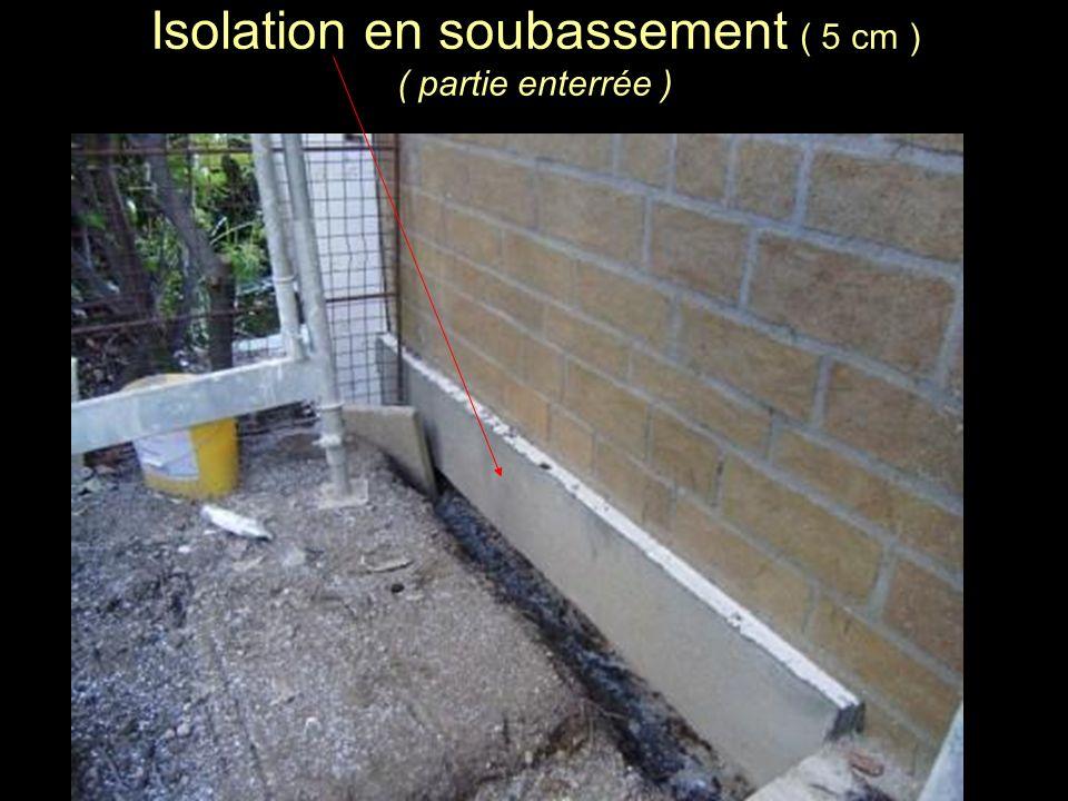 Isolation en soubassement ( 5 cm ) ( partie enterrée )