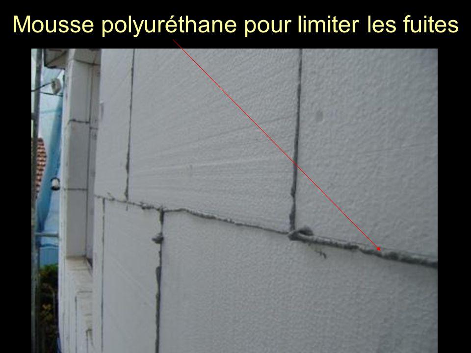 Mousse polyuréthane pour limiter les fuites