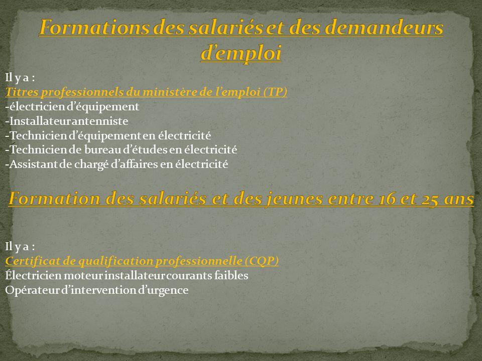 Formations des salariés et des demandeurs d'emploi