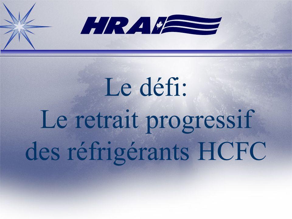 Le défi: Le retrait progressif des réfrigérants HCFC