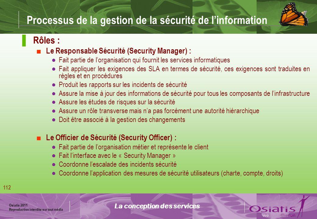 Processus de la gestion de la sécurité de l'information