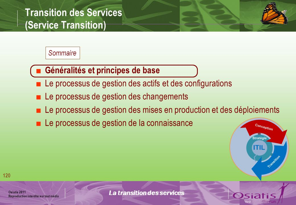 Transition des Services (Service Transition)