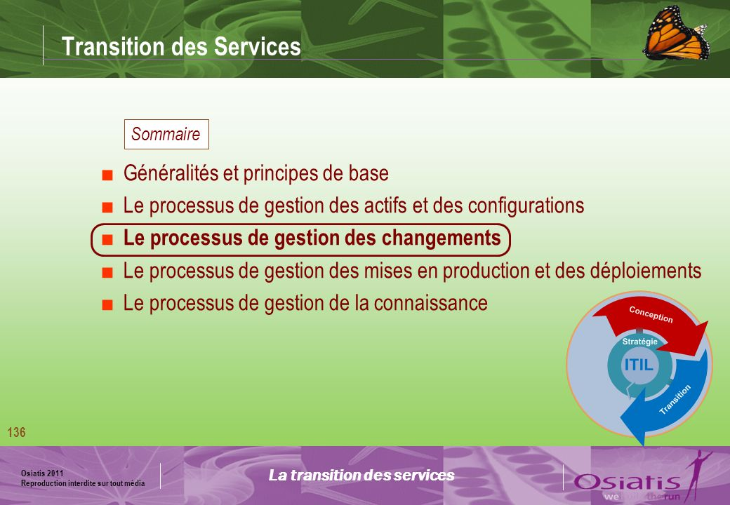 Transition des Services