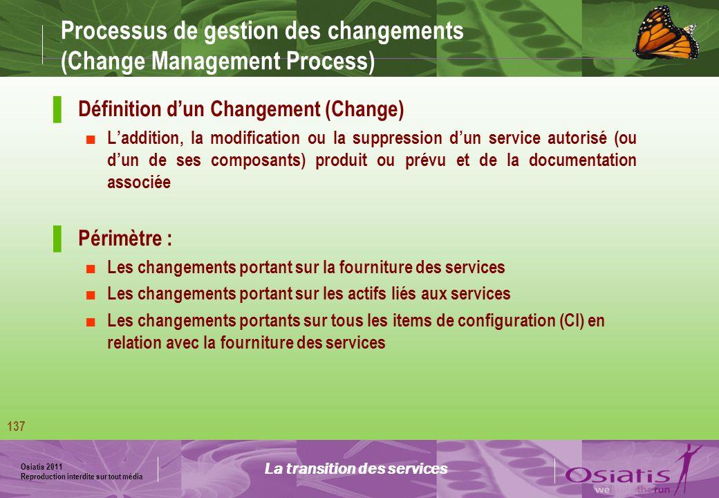 Processus de gestion des changements (Change Management Process)